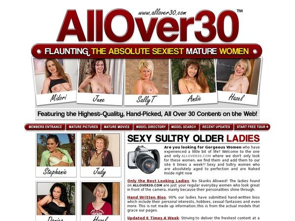 Account For Allover30.com