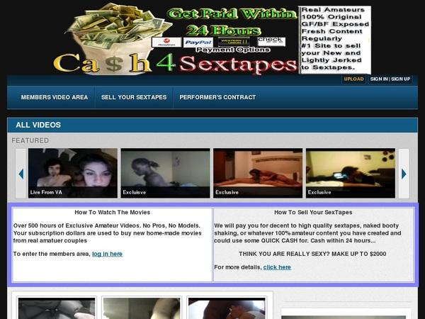 Cash 4 Sex Tapes Password Login