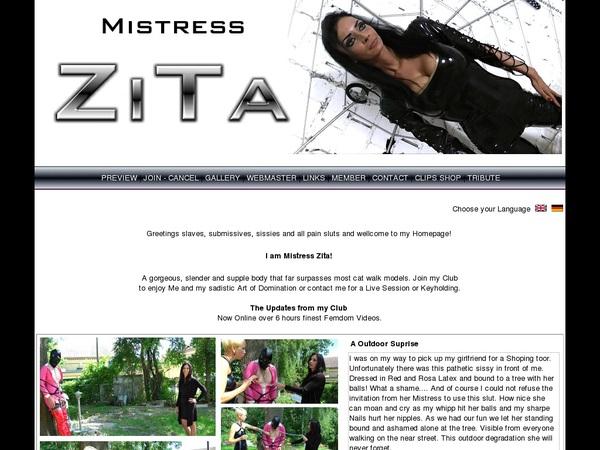 Cracked Mistress Zita Account