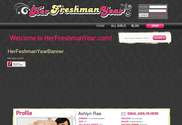 Her Freshman Year Official