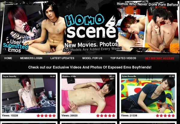 Homo Scene 사용자 이름