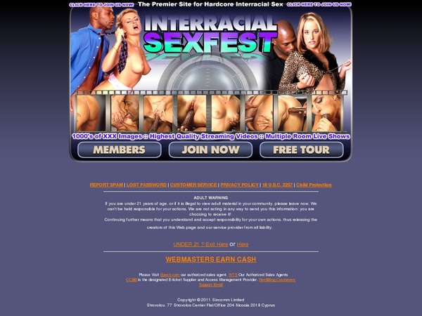 Interracialsexfest.com With IBAN / BIC