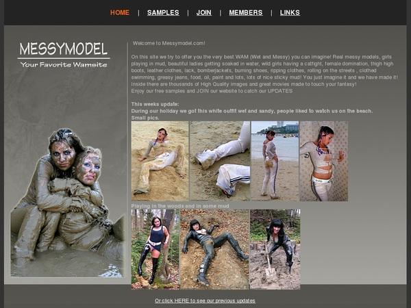 Messy Model Full Website