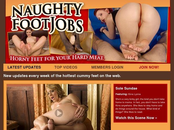 Naughty Foot Jobs Login Passwords