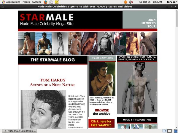 Starmale Sign Up Page