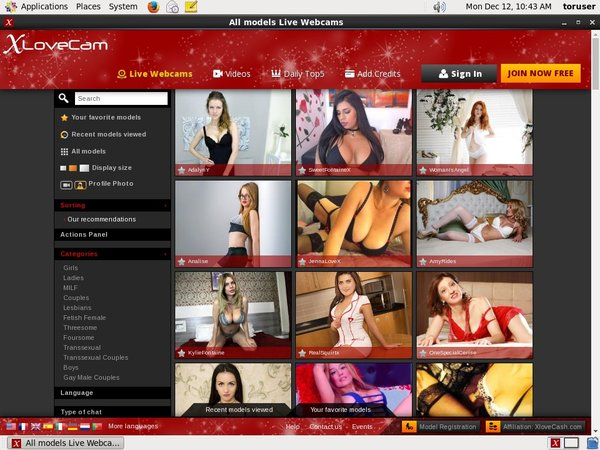 Xlovecam With Mastercard
