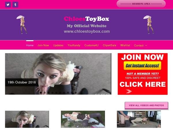 Free Chloestoybox Account