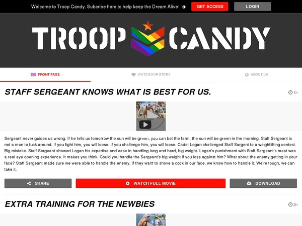 Troop Candy Toilet