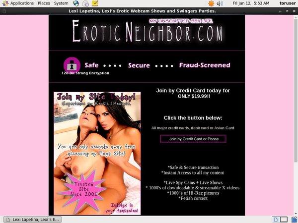 Eroticneighbor.com Paypal Purchase