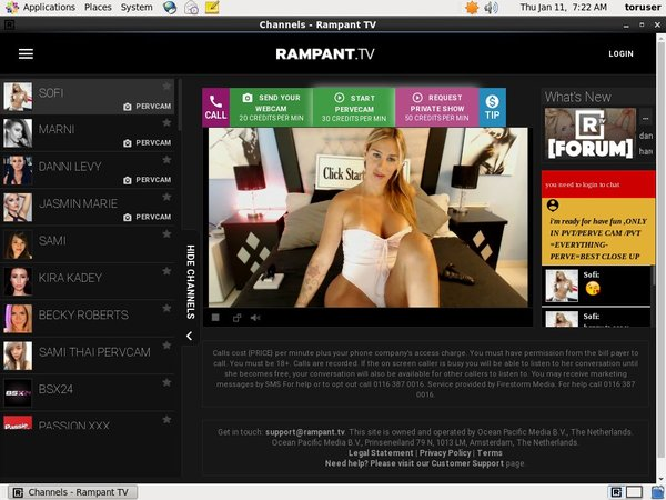 Account On Rampant.tv