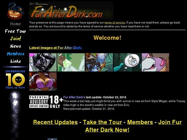 Fur After Dark Passcodes