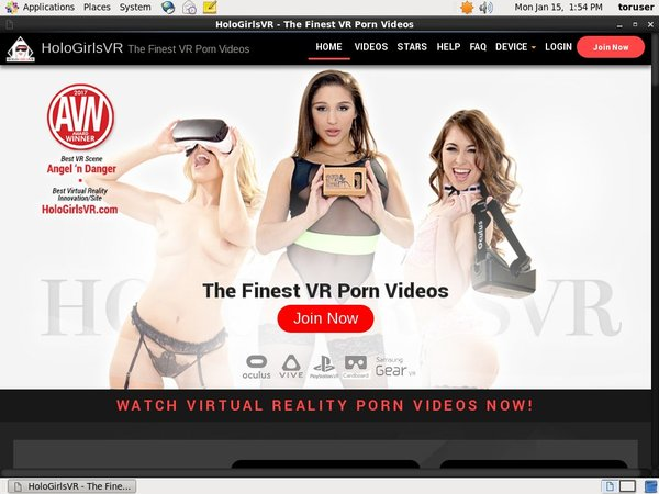 HoloGirlsVR With AOL Account